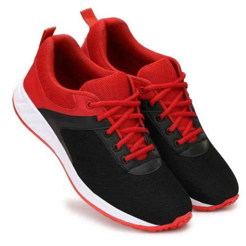 Mr Chief 4171 Black Smart Sports Running Shoes, Size: 8