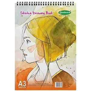 Sundaram A3 36 Pages Sketch Drawing Book, D-8 (Pack of 2)