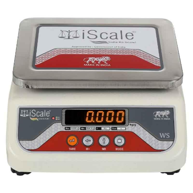 iScale i-03 20kg and 1g Accuracy Weighing Scale with Front and Back Green Double Display and SS Pan