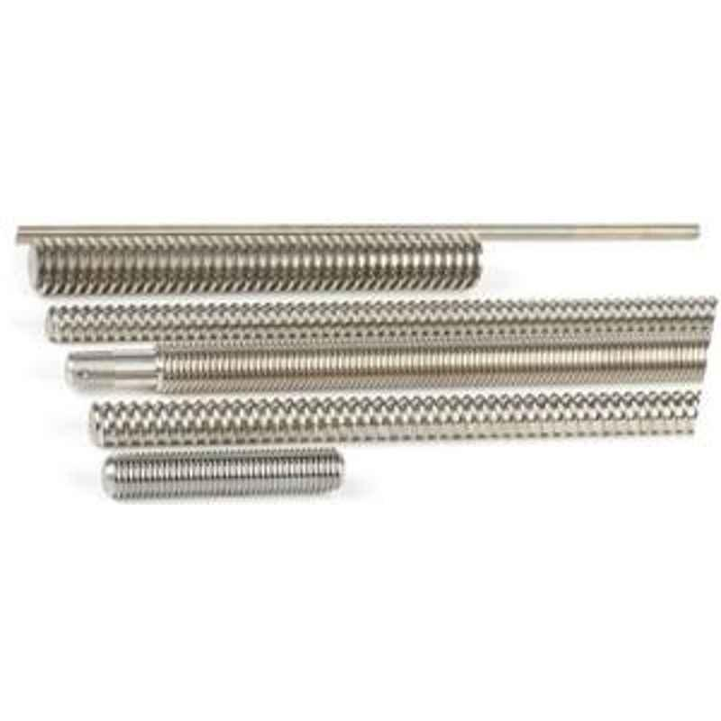 World Fasteners Stainless Steel Threaded Rod( Dia - 1/4inch Threaded Rod Length - 1 Mtr)