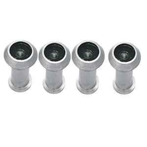 Smart Shophar 2 inch Zinc Alloy Silver Vista Light Weight Eye View, SHA20EV-VIST-LTSL02-P4 (Pack of 4)