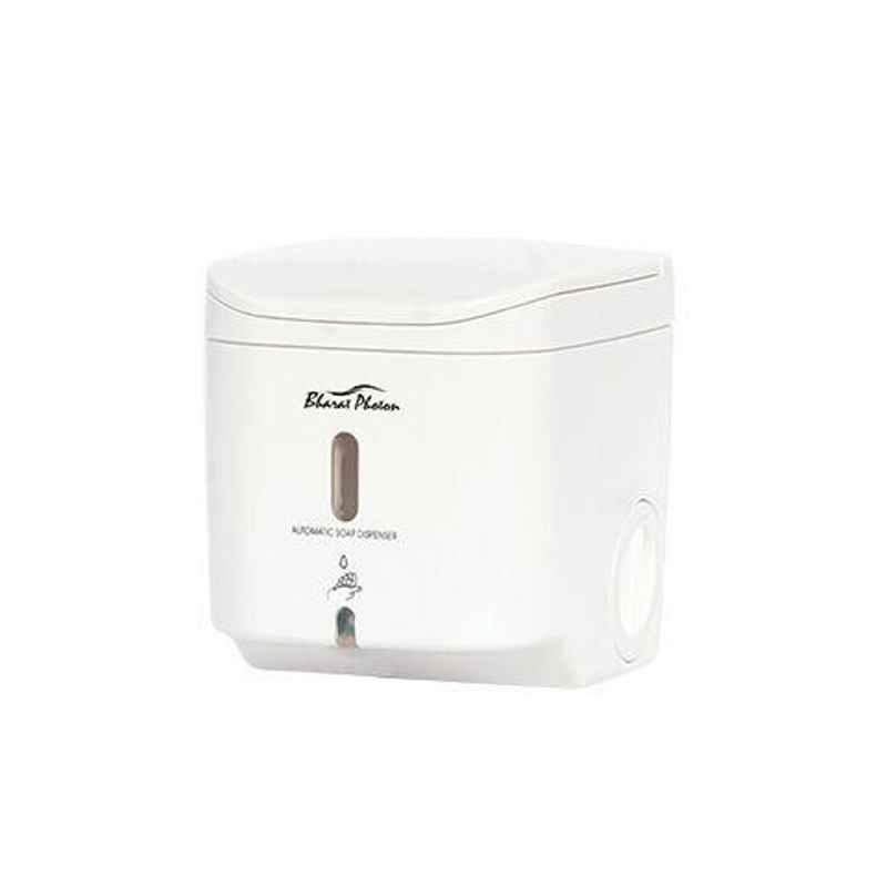 Bharat Photon 500ml Wall Mounted Polycarbonate ABS Stylish & Luxorius Automatic Soap Dispenser, BP-ASA-106