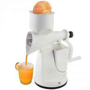 SM Popular White Manual Hand Fruits & Vegetable Juicer with Waste Collector