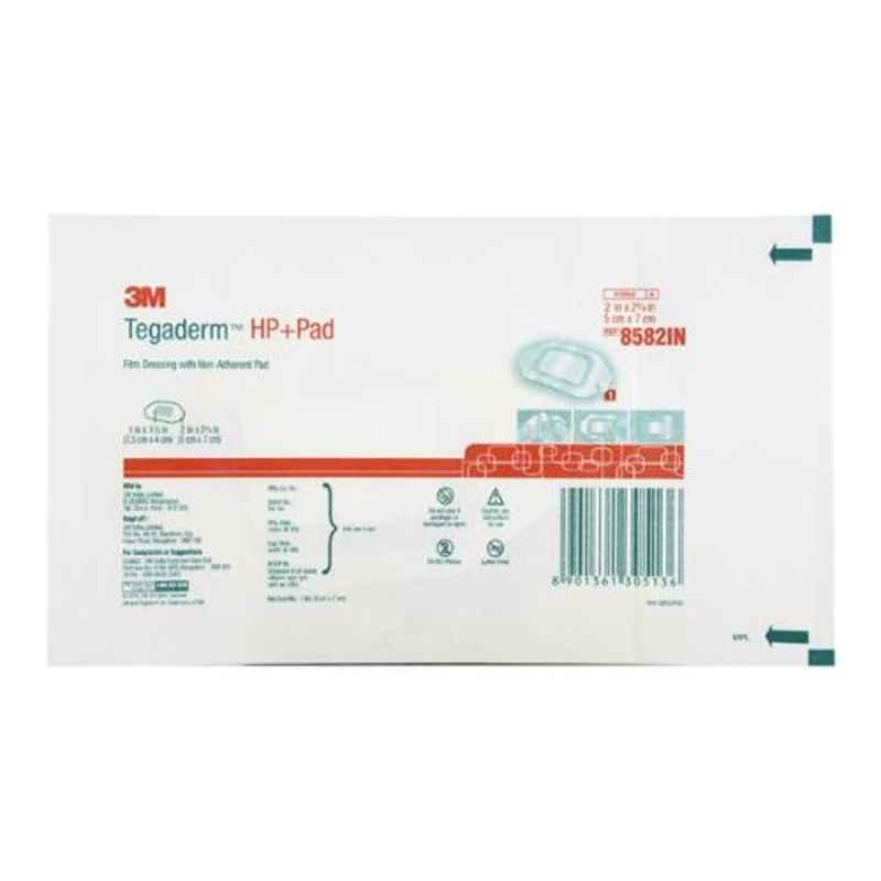 3M Tegaderm HP Transparent Dressing Pad, 8582IN (Pack of 50)