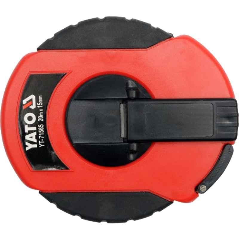 Yato 20m 15mm Speed Retracting Fiberglass Measuring Tape, YT-71565