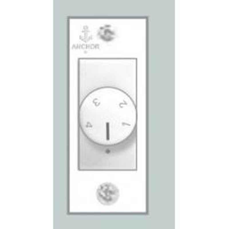 Anchor White Penta Urea Range Mini Fan Regulator, 38284 (Pack of 5)
