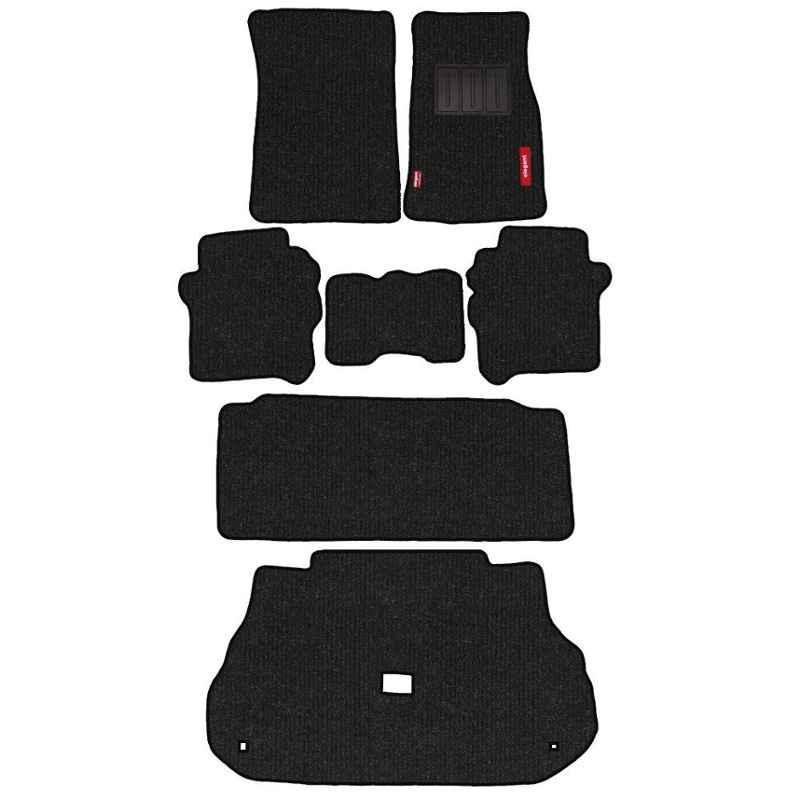 Elegant Carry 7 Pcs Polypropylene Black Car Floor Mat Set for Ford Endeavour (2006-2015)