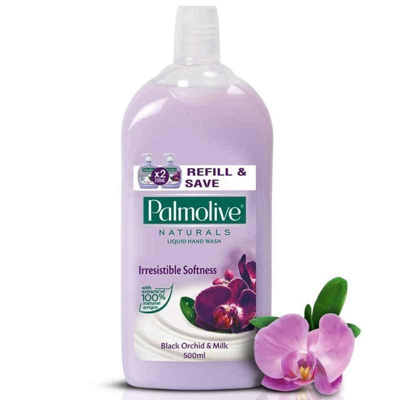 Palmolive 500ml Black Orchid & Milk Naturals Liquid Hand Wash (Pack of 2)