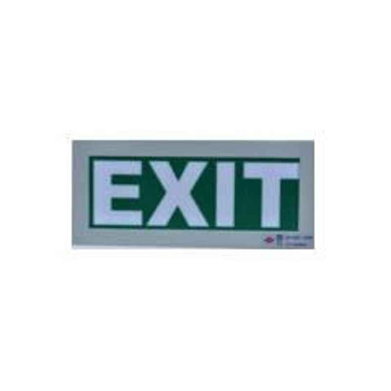 Rax Vinyl Green Exit Sign without Battery Backup, RT-EXIT-V0/LO1