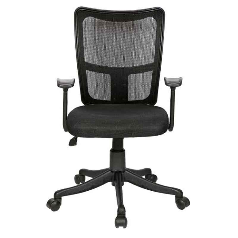 Regent Silver Line Net & Metal Low Back Black Mesh Chair