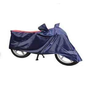 Mobidezire Polyester Red & Blue Bike Body Cover for Bajaj Platina 100 DTS-i (Pack of 2)