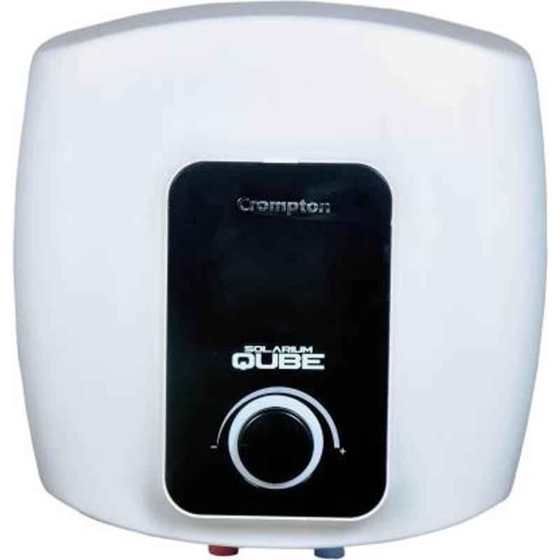 Crompton Solarium Qube 15L Plastic Body White Storage Water Heater, ASWH-2415