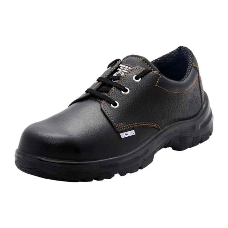 Acme Gravity Steel Toe Black Safety Shoes, Size: 7