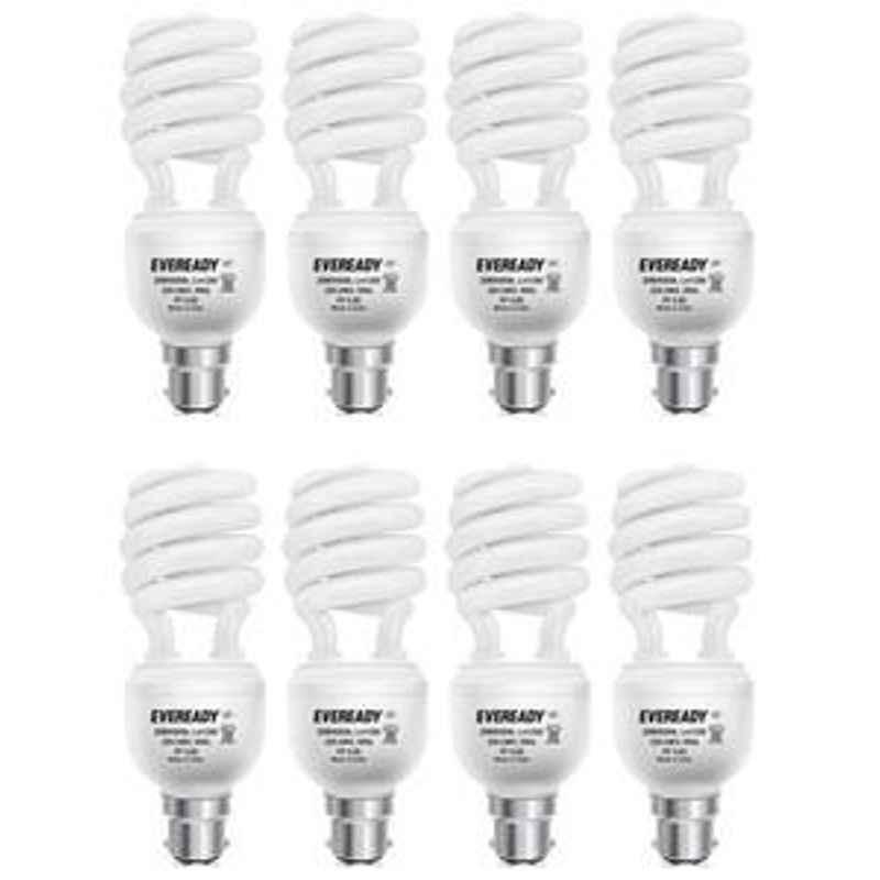 Eveready 20W Spiral 8Pcs HPF White CFL Bulb