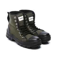Unistar Leather PVC Sole Olive Green Safety Boots, S.Power_Olivegreen, Size: 7