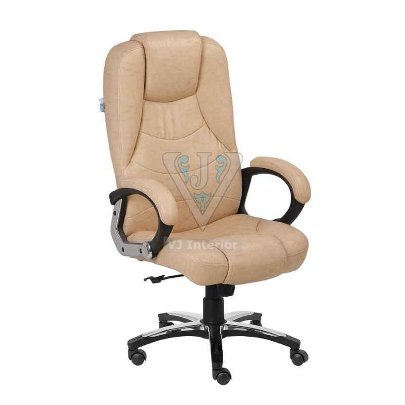VJ Interior 17.5x21x19 inch Tan Office Executive Chair, VJ-1336