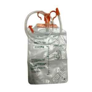 B Positive 2000ml Urine Bag With Hanger (Pack of 5)