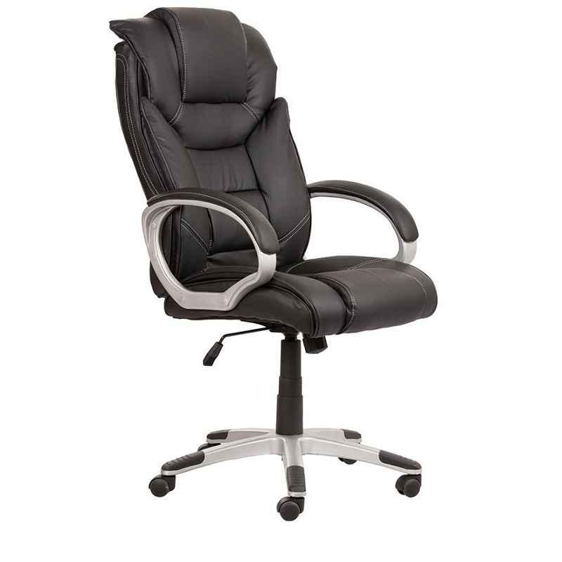 Caddy PU Leatherette Adjustable Study Chair with Back Support, DM48 (Pack of 2)