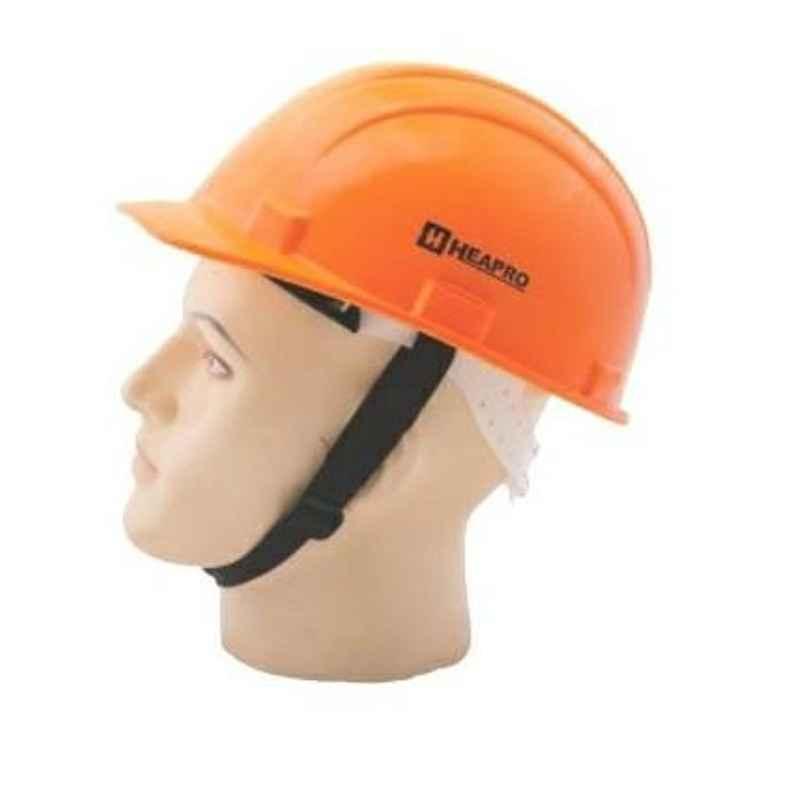 Heapro Orange Ratchet Type Safety Helmet, HR-001 (Pack of 10)