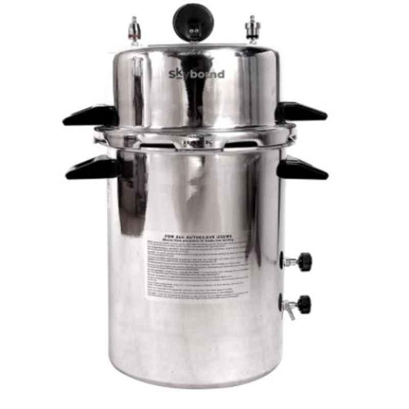 Skybound Aluminum 12x22 inch Pressure Cooker Seamless Electric Autoclave