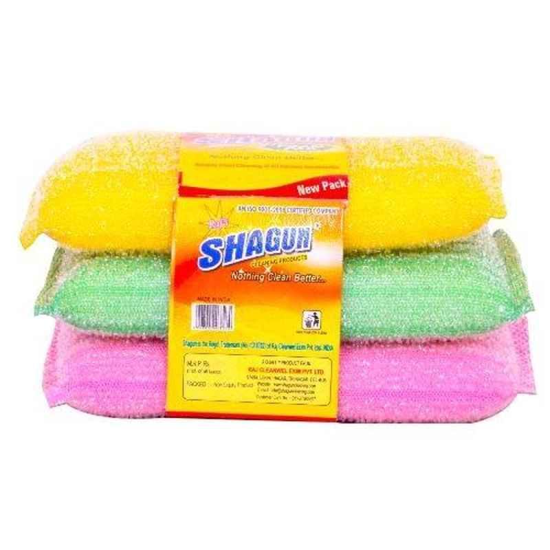 Shagun S-11 3 Pcs 5.5x3.5 inch Polyester Dish Cleaning Cloth Pad Set