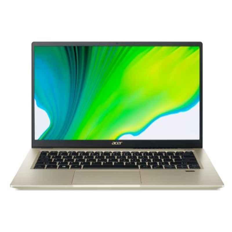 Acer Swift 3X SF314-510G 11th Gen Intel Core i5/Iris Xe Max Graphics/16GB RAM 512GB SSD & 14 inch Display Safari Gold Ultra Thin Laptop, NX.A10SI.001