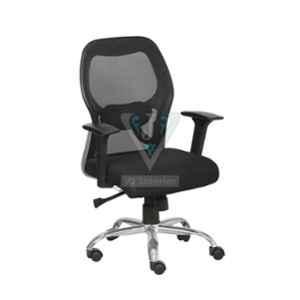 VJ Interior 18.5x18x18 inch Black Chrome Back Mesh Executive Chair, VJ-1285