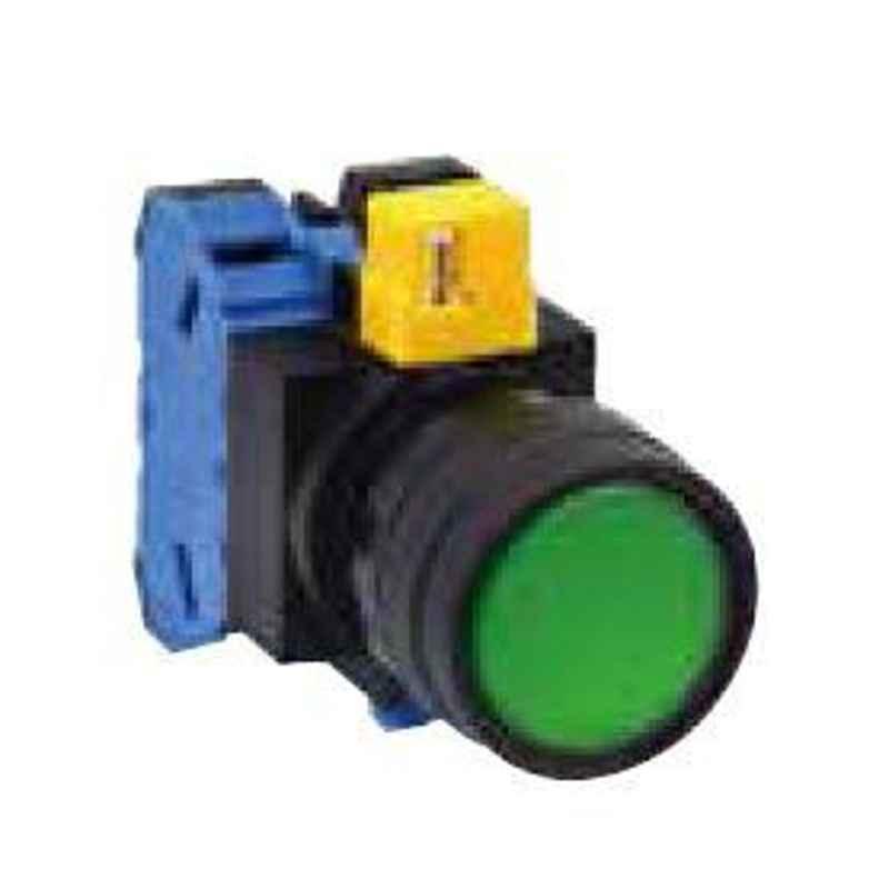 Idec 22mm 1NO-1NC 24V Round Flush Pure White illuminated Pushbutton, HW1L-M111Q4PW