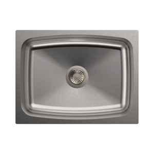 Carysil Elegance Single Bowl Stainless Steel Matt Finish Kitchen Sink, Size: 24x18x8 inch