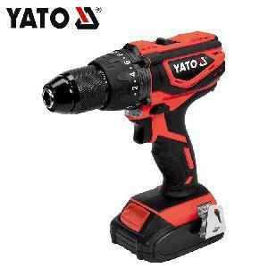Yato 0-1650rpm Battery Operated Cordless Impact Drill Driver Kit YT-82786