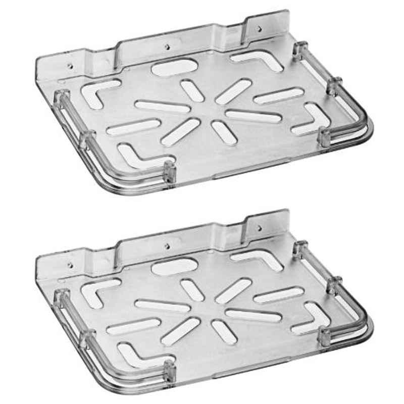 Drizzle Plastic Black Top Box Shelves, ASETBOXSHELFBLACK
