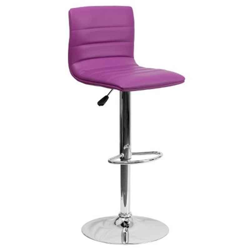 Steelcraft KBSTP12 Purple Leatherette Upholstery Seat Bar Stool