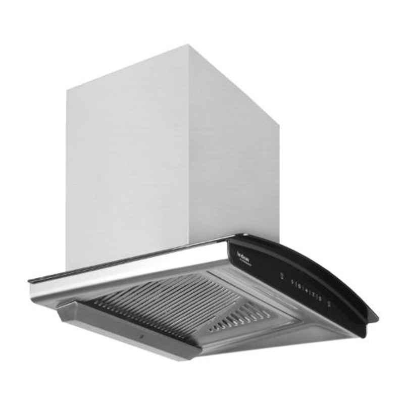 Hindware Nadia Auto Clean 60 Inox Kitchen Chimney with Motion Sensor & Touch Control, 517249, Size: 60 cm