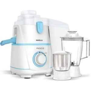 Havells Rigo 500W White & Blue Juicer Mixer Grinder with 2 Jars, GHFJMBUB050