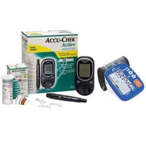 Dr. Morepen BP-02-XL Blood Pressure Monitor & Accu-Chek Active Glucose Monitor with 10 Free Strips