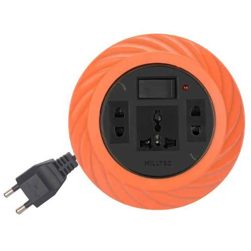 Milltec Twist 2 Pin 5m Orange Extension Cord, 1084