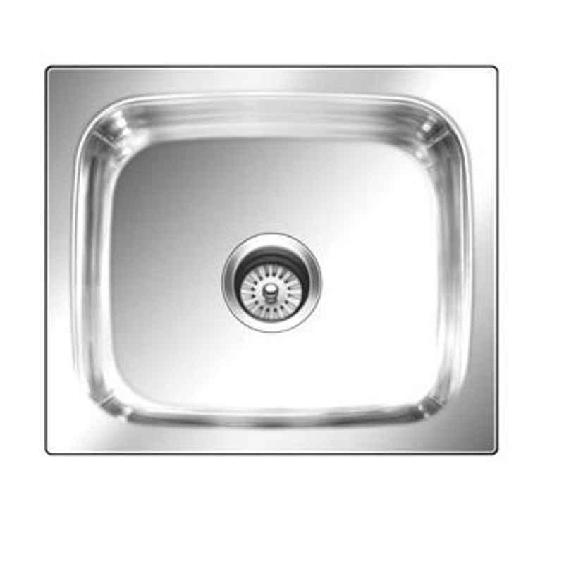 Nirali Grace Plain Satin Finish Kitchen Sink, Size: 380x305 mm