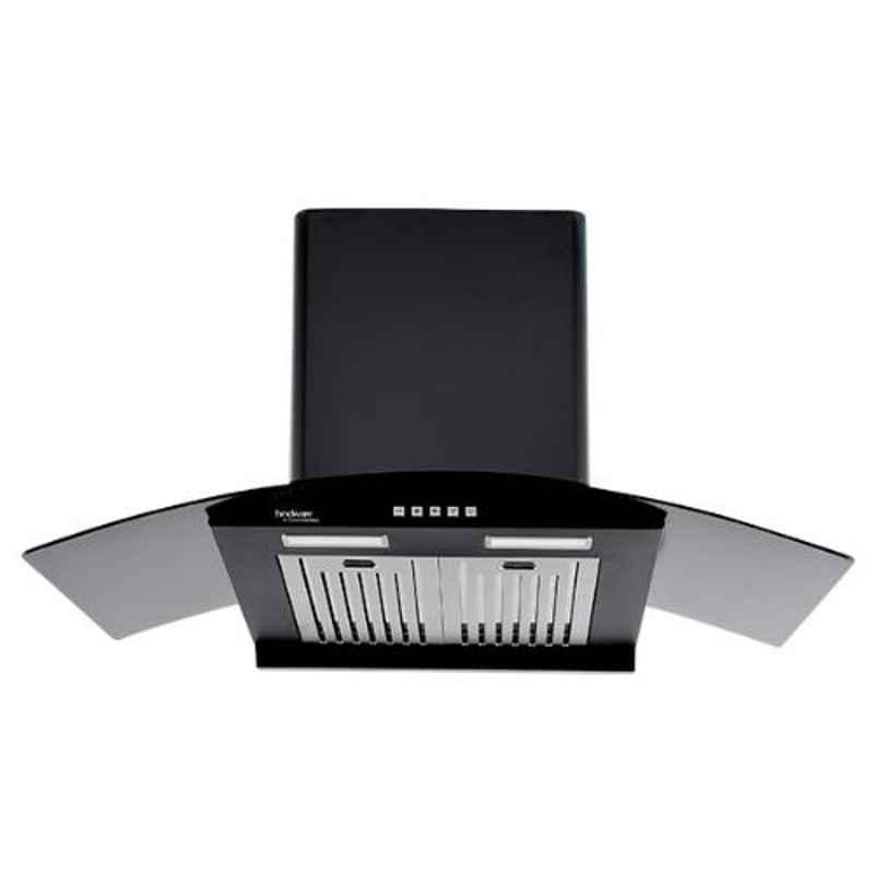 Hindware Victoria-90 90cm Auto Clean Black Kitchen Chimney