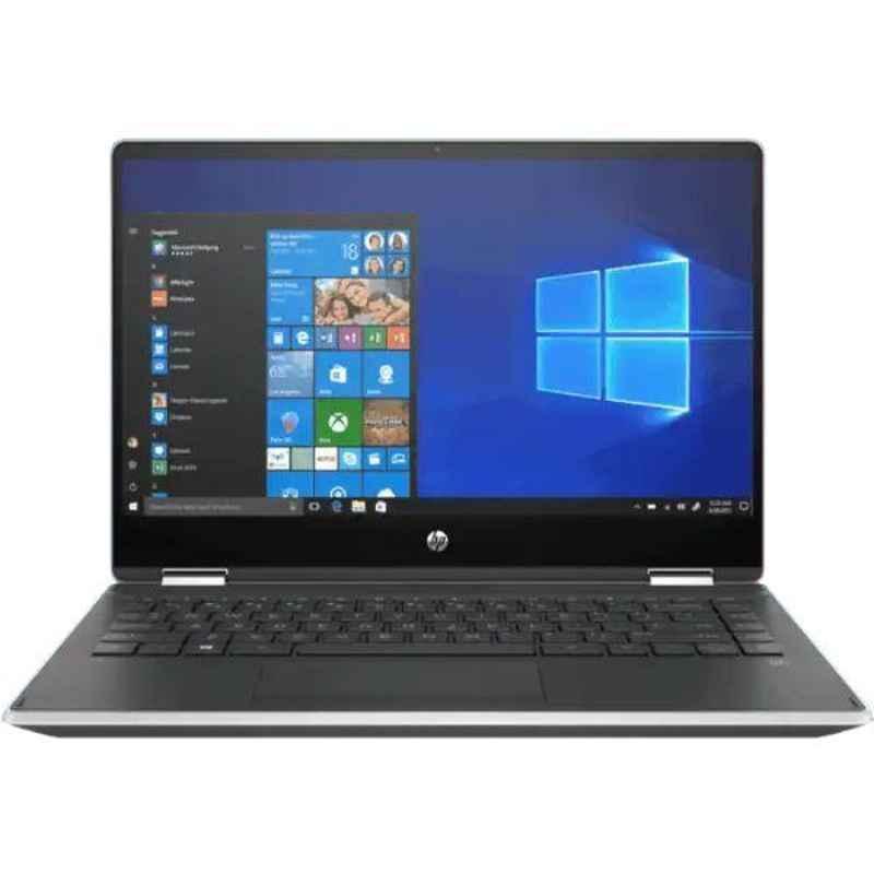 HP Pavilion X360 14-DH1010TU Intel i5/8GB DDR4 RAM/256GB M.2 SSD/14 inch Display Natural Silver Laptop, 8GA79PA