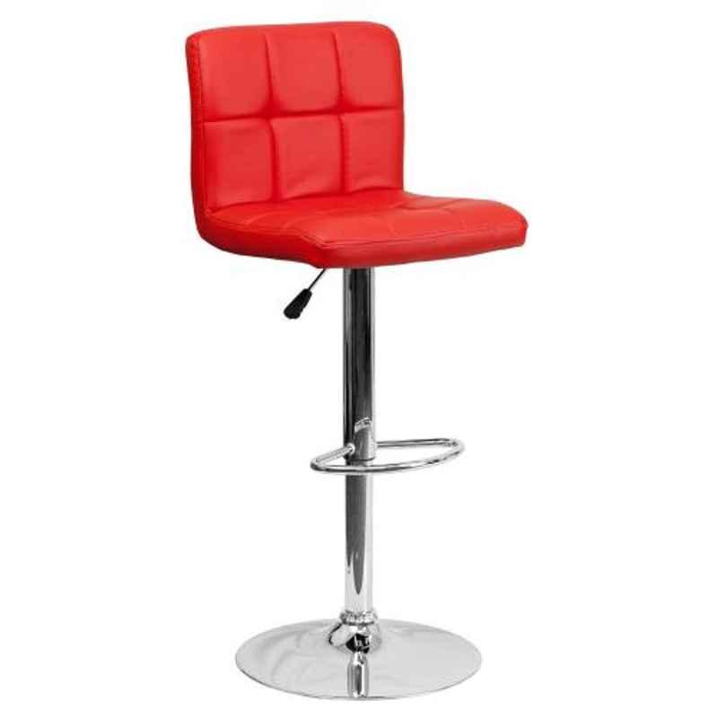 Steelcraft KBSTB02 Red Leatherette Upholstery Seat Bar Stool