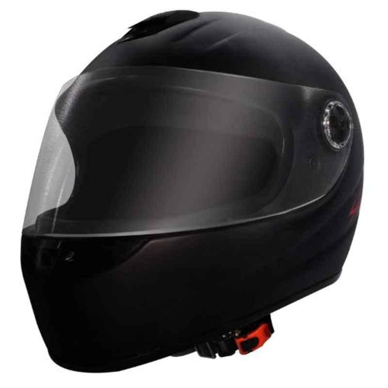 Habsolite HB-SB02 Shadow Black Full Face Helmet with Clear Visor & Adjustable Strap, Size: M