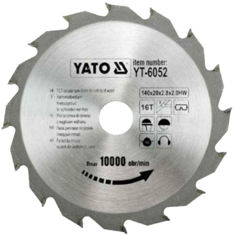 Yato 115x22x40T TCT Circular Saw Blade for Wood, YT-6050T