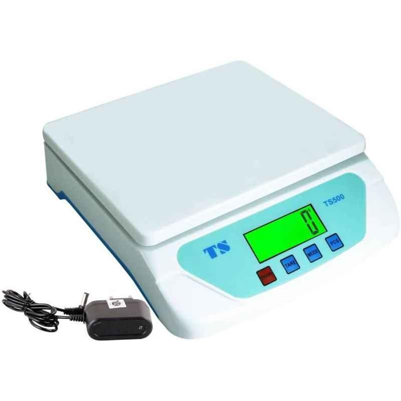 MS 25kg White Digital Weighing Machine with Adapter, TS-500