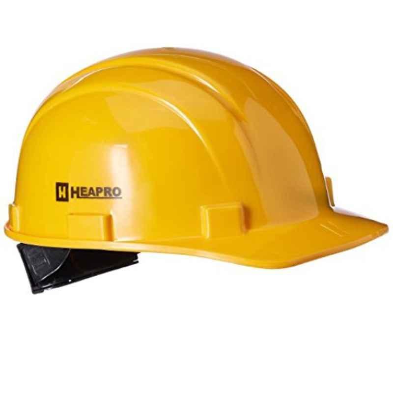 Heapro Yellow Ratchet Safety Helmet, HR-001