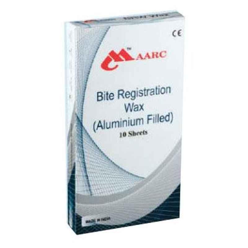 Maarc 10 Sheets Aluminium Filled Bite Registration Wax, 2202/010