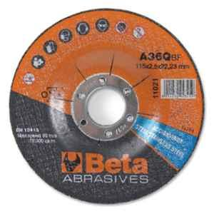 Beta 11021 115mm A30Q Abrasive Steel & Stainless Steel Cutting Disc with Depressed Centre, 110210118