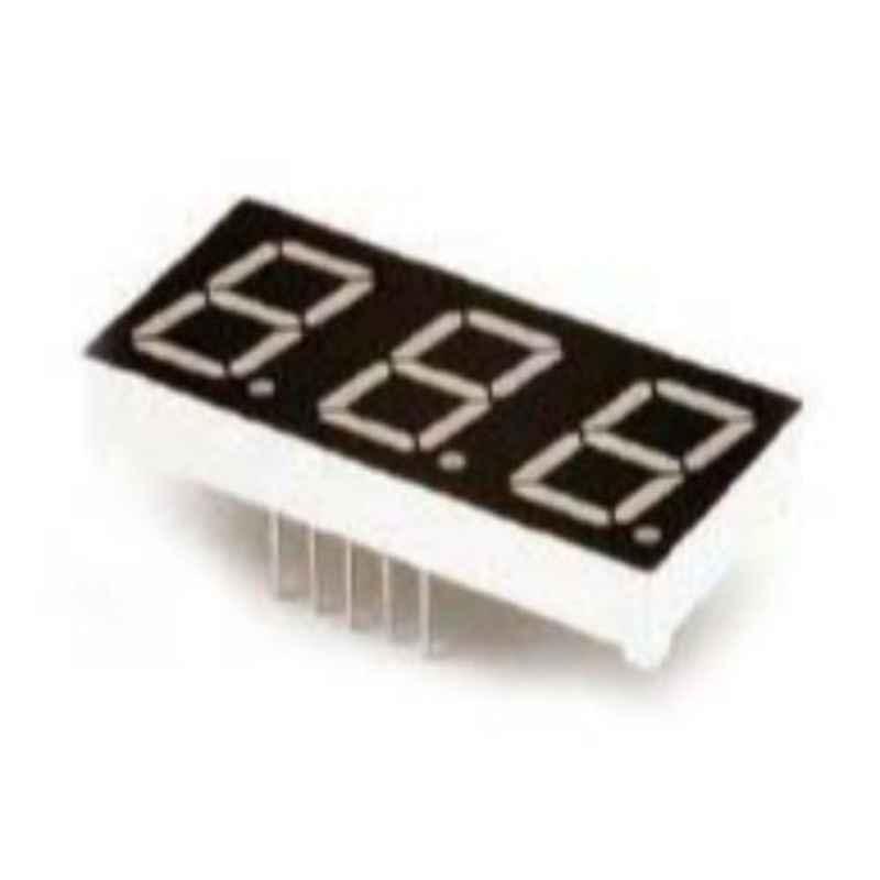 Oasistek 100 Pcs 0.52 inch Ultra Red Triple Digit Display Module Set, TOT-5321