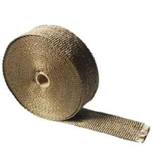 AllExtreme EXMSW3M Grey Bike Exhaust Universal Silencer Wrap Heat Shield Protector with Clamp for Royal Enfield