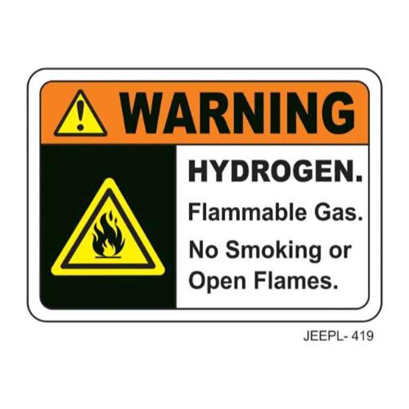 Jeepl Warning Hydrogen Flammable Gas Sticker, jeepl-419
