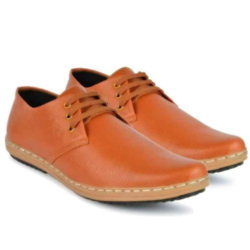 Mr Chief 973 Zara Tan Smart Casual Shoes for Men, Size: 9